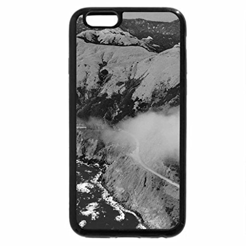iPhone 6S Plus Case, iPhone 6 Plus Case (Black & White) - beautiful route 1 on california coast