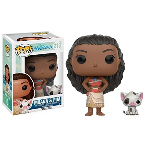 Funko POP Disney: Moana - Moana & Pua Action Figure , Brown , Standard