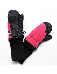SnowStoppers Kid's Waterproof Stay On Winter Fleece Mittens Large / 4-8 Years Fuchia