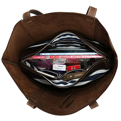 Modelshow 2 in 1 Tasche Frau Mode Einfach Echtleder Rucksack Groß Kapazität Handtasche Schulter Tasche Schlinge Tasche