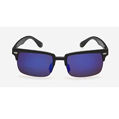 0d021be965 Image Unavailable. Image not available for. Colour  WANGWO Men s Classic  Color Lens Color Half-Frames Sunglasses UV Protection Ray Ban Polarized  Bicycle