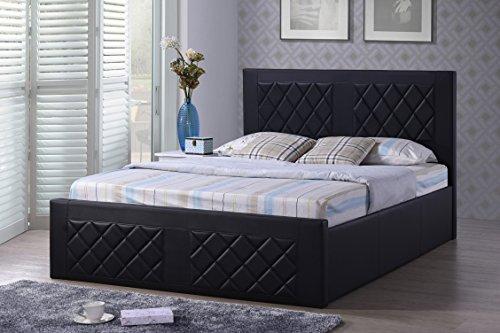 UPC 812183018617 - Hodedah Leather Bed, Queen, Black