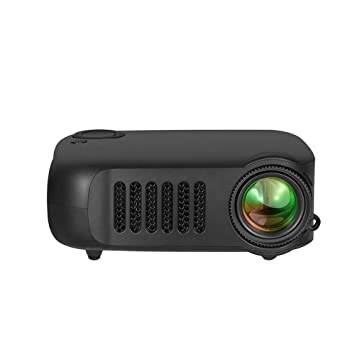 WHLDCD Proyector Mini proyector Negro 1080P HD LCD Home ...