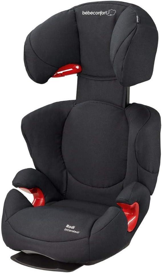 Bébé Confort Rodi AirProtect - Silla de coche para niños, alzador ligero de respaldo alto, 3.5-12 años, 15-36 kg, negro (Black Raven)