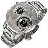 Lookatool Fashion New Mens Stainless Steel Date Military Sport Quartz Analog Wrist Watch