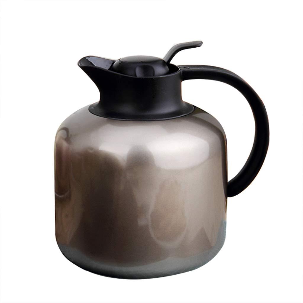LRXG Thermoskannen, 304 Edelstahl 2L Doppelwandige Vakuumisolierte Kaffeekanne Kaffee Plunger Juice Isolation Reisebecher B7