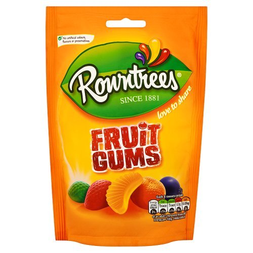 Lemon Sweet Fruit - Original Rowntrees Fruit Gums Sweets Candy Bag Fruit Gums. Imported From The UK England In Mouth Watering Blackcurrant Strawberry Orange Lemon & Lime The Very Best Of British Candy