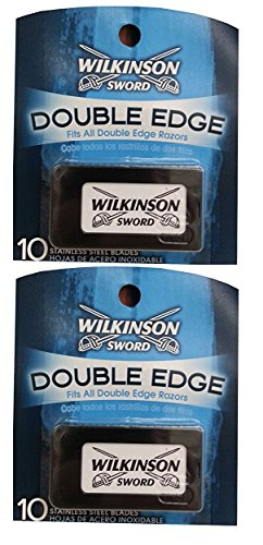 Wilkinson Sword Double Edge Razor Blades, 10 ct. (Pack of 2) + FREE LA Cross Manicure 74858 -