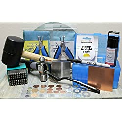 Supply Guy Jewelry Metal Stamping Kit - Available in Four Font Choices (Posh, Typewriter, Cinnamon and Tootsie) (3mm Typewriter)