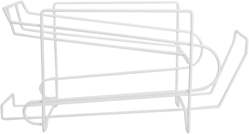 JUNNuotop 2- Tier Wire Soda and Food Can Dispenser Storage Rack Organizer, Countertop, Cabinet- Holds 10 Cans