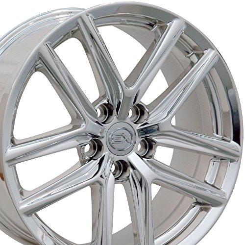 Chrome Rims Plated Aluminum (18x8 Wheels Fit Lexus, Toyota - Lexus IS Style Chrome Rim, Hollander 74292)