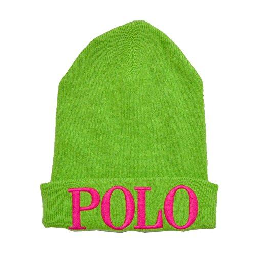 """Polo Ralph Lauren Womens """"Polo"""" Beanie Hat (Green)"""