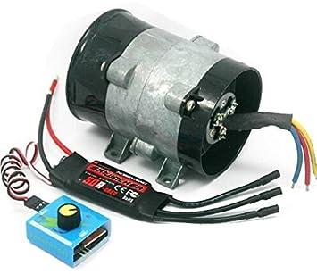 Supercargador eléctrico para coche tipo Y, 5 cables, 380 W, ventilador de entrada turbo de 12 V 16,5 A: Amazon.es: Coche y moto