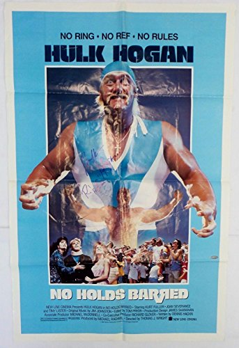 ed No Holds Barred Movie Poster Authentic - JSA Certified - Autographed Wrestling Photos ()