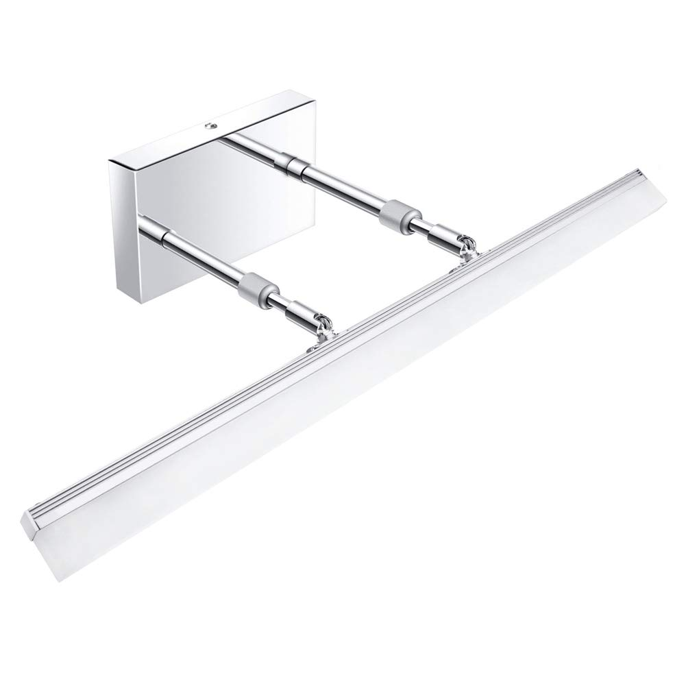 Aipsun 24 inch Modern LED Vanity Lights Adjustable Bathroom Vanity Light Fixtures Bathroom Wall Lights Modern Vanity Lighting Stainless Steel 5500K
