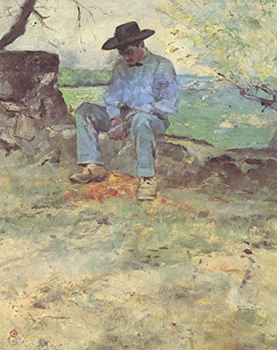 Henri Toulouse Lautrec - Lonesome - Small - Semi Gloss - Unframed Vintage Wall Art Poster Picture Giclee Artwork Modern Contemporary & Fine Art Print ()