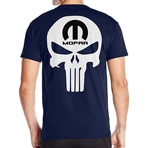Mopar Short - krissry Men's Fantastic Mopar Car SRT RAM Viper Back Graphic T-Shirt Navy Medium