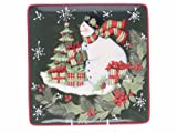 Certified International Vintage Snowman 15-inch Square Platter