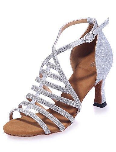 La mode moderne Non Sandales Chaussures de danse pour femmes personnalisables Glitter Paillettes mousseux mousseux en HeelPerformance évasée sandales/pratique/Professionnel /,Black,US5.5/EU36/UK3.5/CN