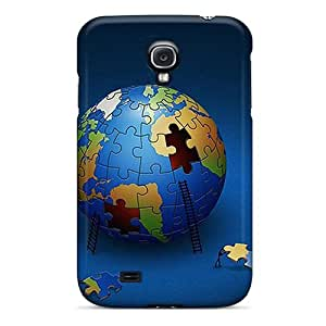 Hot Tpye Large Earth Puzzle Case Cover For Galaxy S4