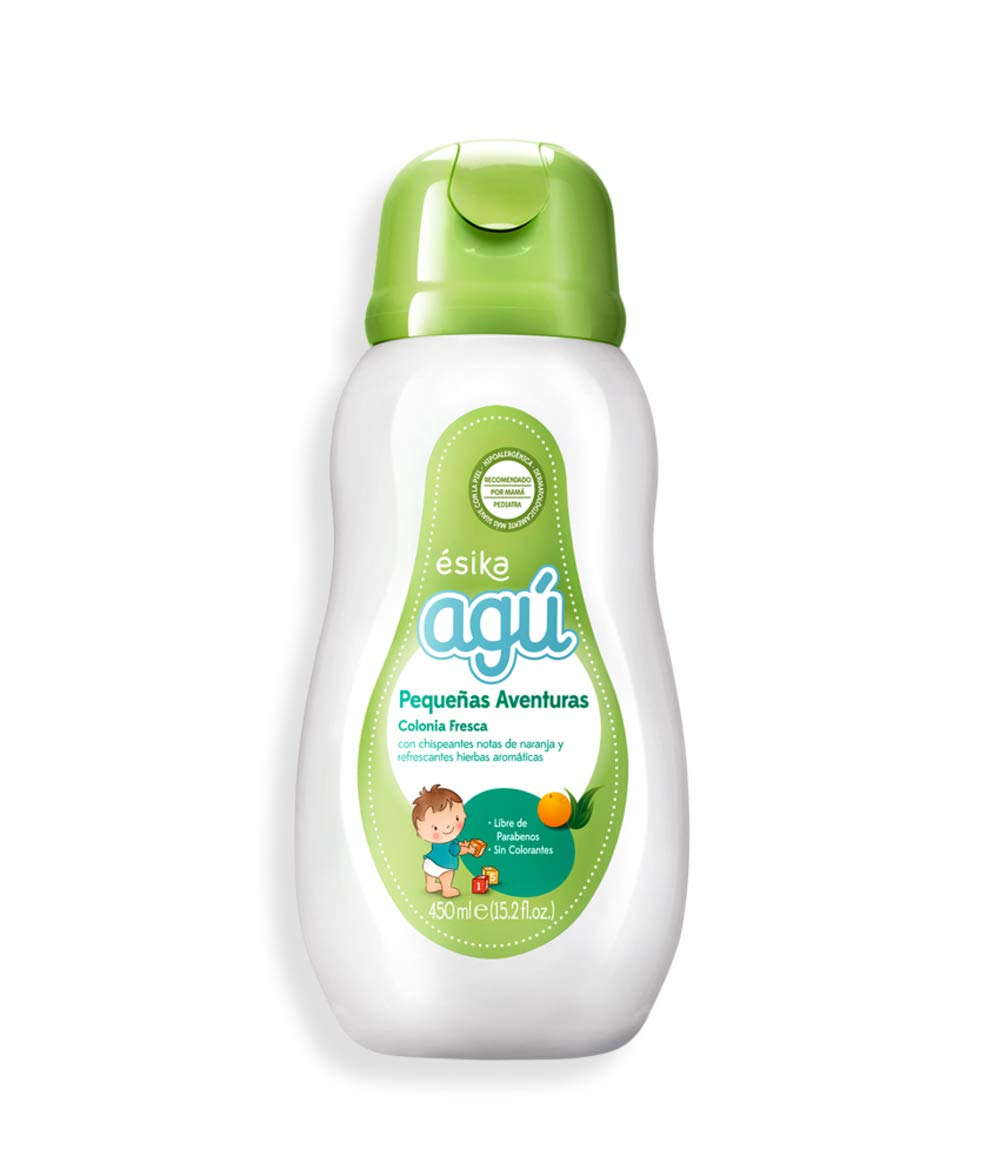 Esika Agú Pequeñas Aventuras Baby Fresh Cologne with Sparkling Orange Notes and Refreshing Aromatic Herbs, Parabens and Dyes Free 15.2 fl. oz. (450ml) by Esika L'Bel