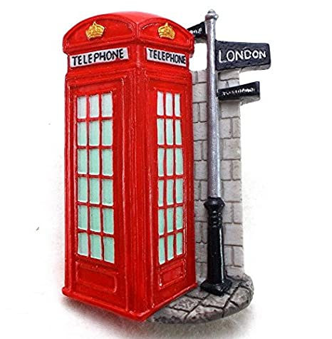 Amazon.com: Cabina de Teléfono, London Souvenir Nevera Imán ...
