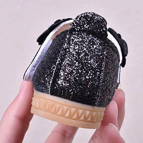 Ballo Da Princess zarupeng Scarpe Prima Passi Infanzia Con Nero In Scarpine Ballerine Bambine Suola Shoes Pelle Paillettes Antiscivolo Primi Estive Bimba Morbide wawpH0