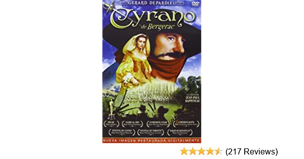 Amazon.com: Cyrano De Bergerac DVD Remasterizado [DVD] (2013) Gerard Depardieu, Vicent Pe: Movies & TV