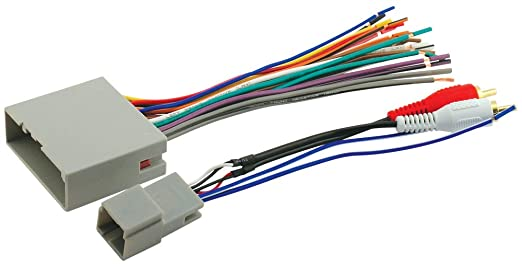 51LACF0xojL._SX522_ amazon com scosche fdk11b wire harness to connect an aftermarket 2007 ford escape radio wiring harness at gsmx.co