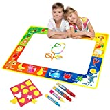 Vidillo Water Doodle Mat, Water Drawing Mat Kids Toys Large Magic Toddlers Painting Board Writing Mats Scribble Boards with 4 Magic Pen and Draw Templates for Boys Girls Educational Learning Gift Size 29 x 19' (Fruit)