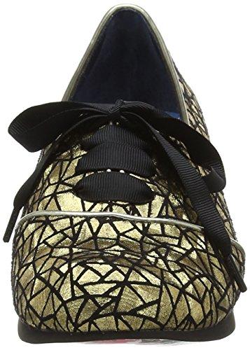 W Black Choice Irregular Oro Gold Derby Stringate Donna Curio Scarpe Low SOx4wqnOz