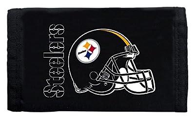 Pittsburgh Steelers Black Nylon Tri-Fold Wallet