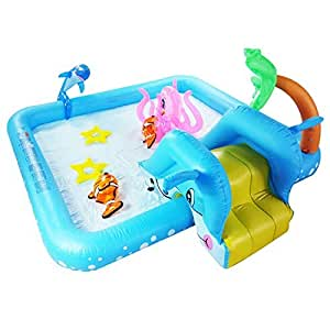 Kids Inflatable Pool This Small Portable Kiddie Blow Up Above Ground Swimming Pool