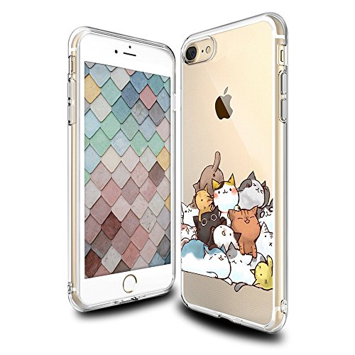 Cheap Cases iPhone 7 Case Cute, Ultra Crystal Transparent Gel Soft Slim Thin TPU..