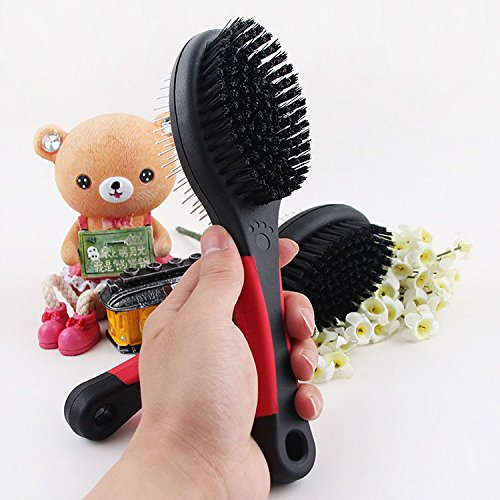 FixtureDisplays 7'' Long 2 in 1 Double Side Shedding Brush Comb Rake Pet Fur Grooming Dog Cat Short Hair12223 12223 by FixtureDisplays