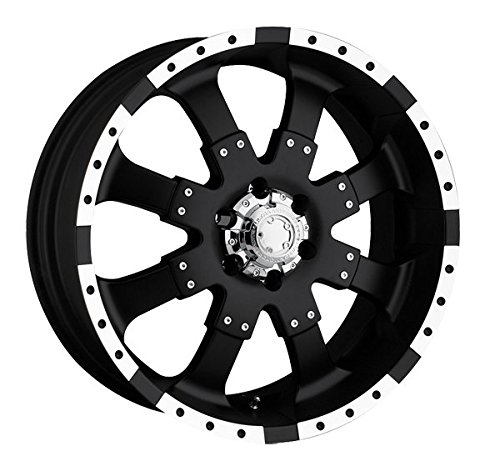 Ultra Wheel 224B Goliath Matte Black with Ultra High Lustre Finish Accents Wheel with Painted (17 x 8. inches /5 x 5 inches, 30 mm Offset)
