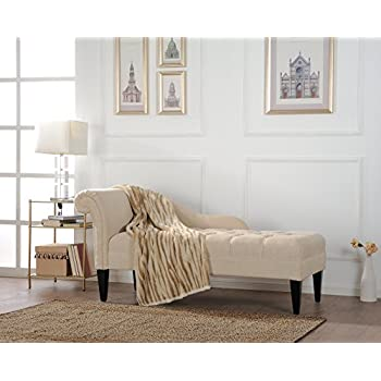 Amazon.com: Jennifer Taylor Samual Chaise Lounge, Beige ...