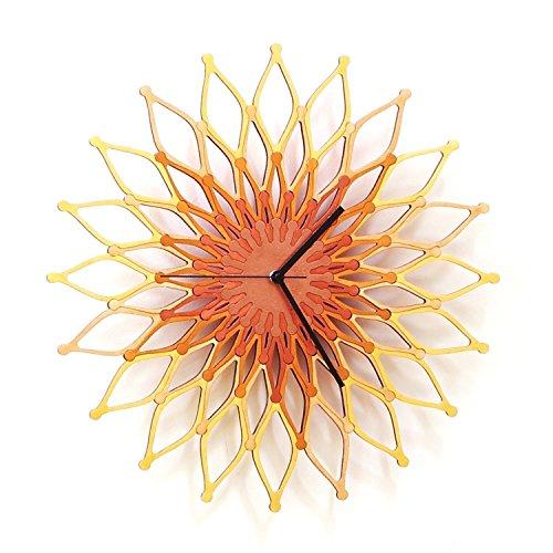 Fireworks II - 16' Large Handmade Sunburst Clock Made of...