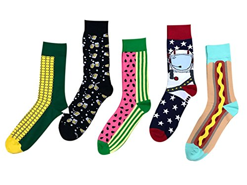 Eden Fghk 5 pair Casual Socks Couples Fashion Fruit printing Street Skateboard Socks by Eden Fghk