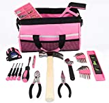 Tool Kit. Best Portable Big Basic Starter Professional Household DIY Hand Mixed Repair Set W/Storage Bag For Home, Garage, Office For Women. Includes Screwdriver, Wrench, Pliers, Etc.