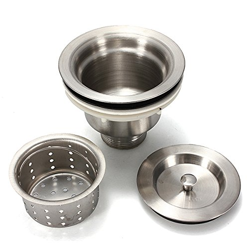 Slide Down Sink Drain Strainer Drainage Products - Stainless Steel Kitchen Water Sink Strainer Plug Drain Basket - Drop Drainpipe Fall Off Lapse Waste Pipe Slump Flow Away - 1PCs by Unknown