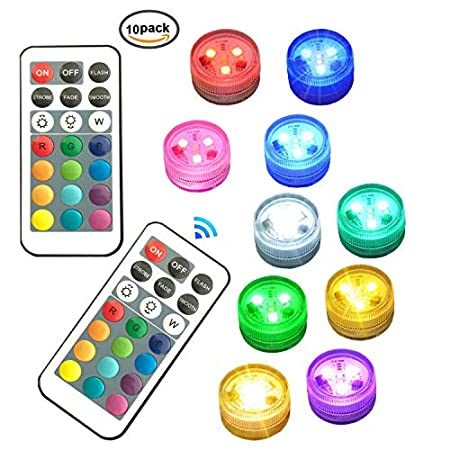 Melon Boy Submersible Led Lights,Underwater Waterproof Tub Lights with Remote Control for Hot Tub,Vase Base,Pond,Pool,Aquarium,Party,Fish Tank,Home Decorations Mood Lights 1pc