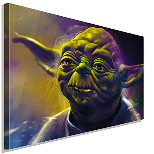 Star Wars Master Yoda Leinwandbild LaraArt Studio Wanddeko Wandbild 100 x 70 cm