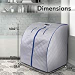 SereneLife Oversize Portable Infrared Home Spa | One Person Sauna | with Heating Foot Pad & Portable Chair