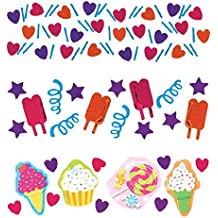 Sweet Candy Shop Birthday Party Value Confetti Mix, Multi Color, Paper, 1.2 Ounces