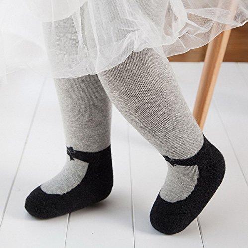 Filles Pour glissement Collants Anti Ahatech Automne Mignon Hiver Chaussettes Enfants Gris ZfxBUqH