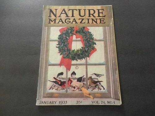 Nature Jan 1933 Australian Magpie; Pasque Flower; Sage Hen - Sage Bronze Glass