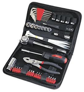 Apollo Tools DT9774 56 Piece SAE Auto Tool Kit in Compact Zippered Case with Most Useful Mechanics Tools