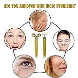 24K Beauty Bar Golden Face Massager - 3D Roller