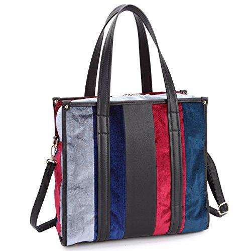 Dasein Women's Designer Handbags Padlock Belted Satchel Bags Top Handle Handbag Purse Shoulder Bag w/ Matching Wallet (01-4-7483 - 7483